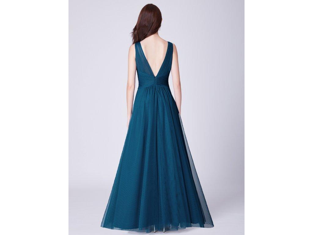 639e5cb23e8b Dámské luxusní plesové šaty Ever Pretty 7526 modré - trendy-obleceni.cz