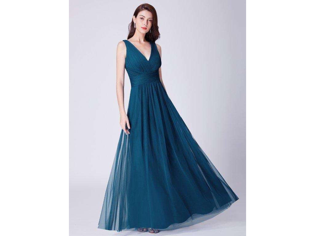 52101e03c996 Dámské luxusní plesové šaty Ever Pretty 7526 modré - trendy-obleceni.cz