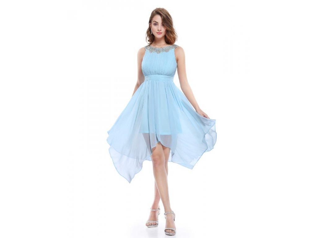 Ever Pretty šifonové šaty krátké modré 5002