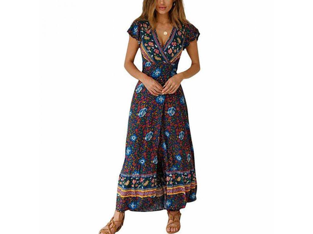 Květovné zavinovací šaty
