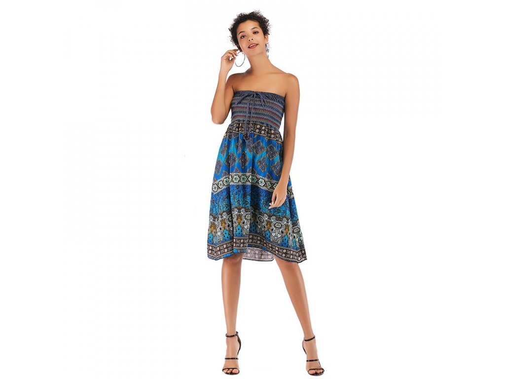 InkedTwo wearing bohemian dresses women casual dresses (2) LI