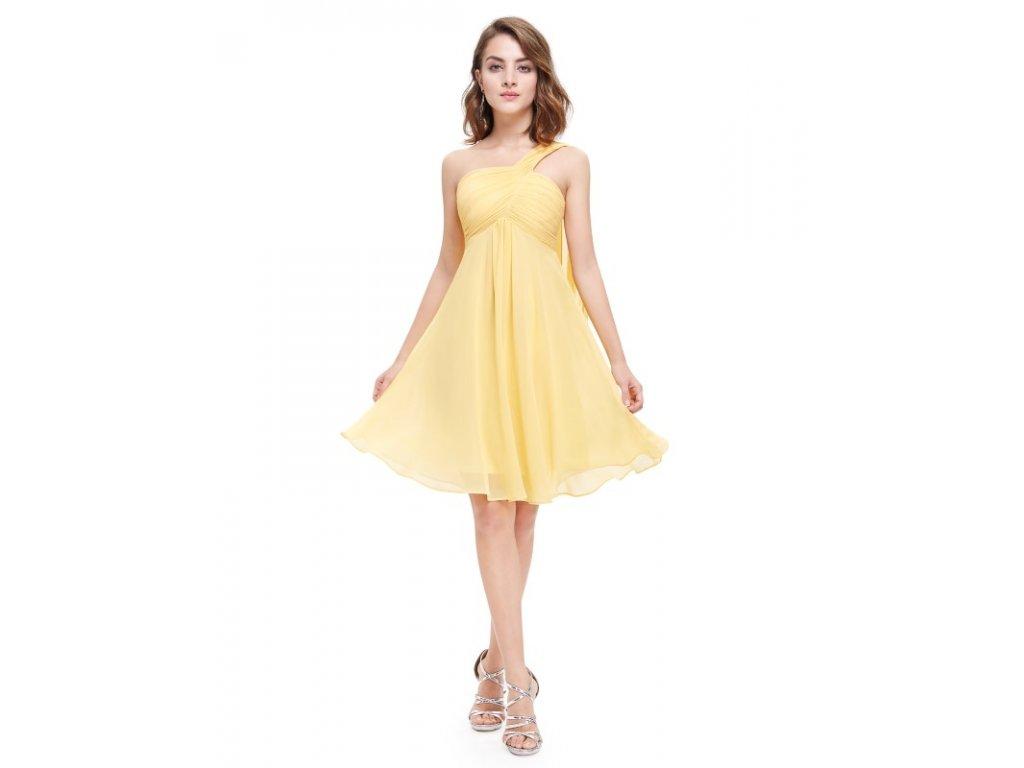 Ever Pretty šaty do tanečních, plesové žluté 3537