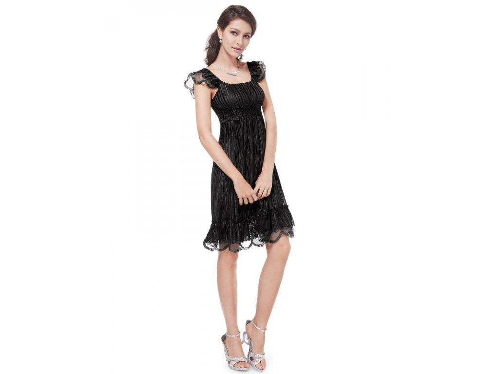 Šaty do tanečních či plesy černé Ever Pretty 2713
