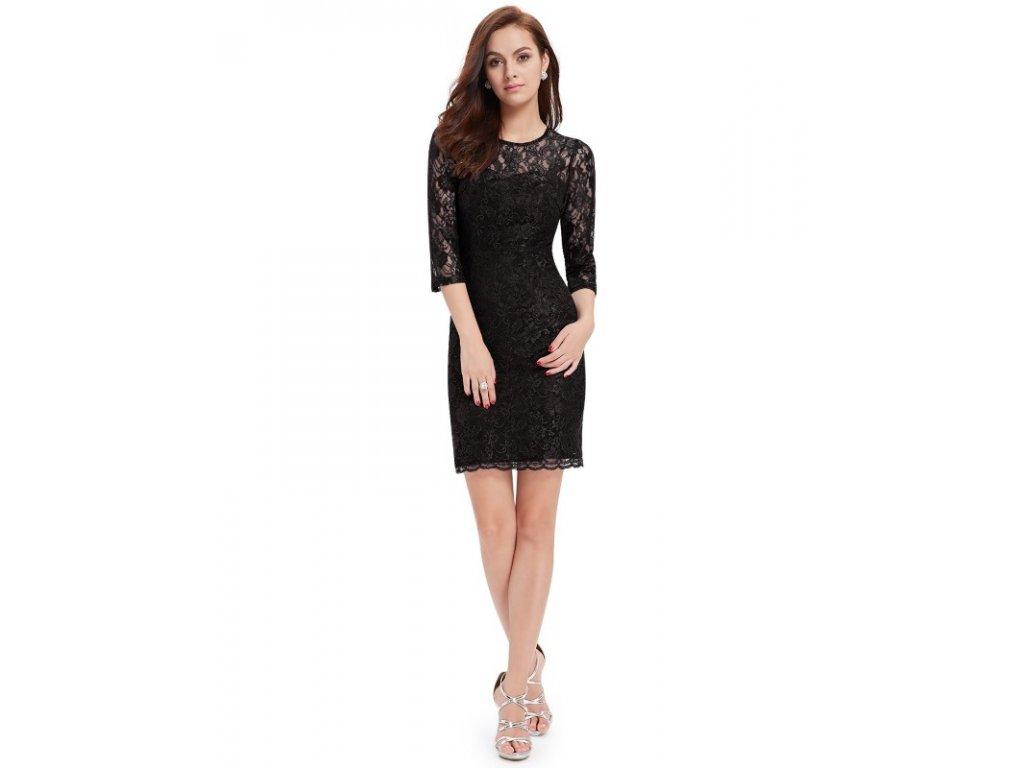 Ever Pretty šaty černé s krajkou 3792