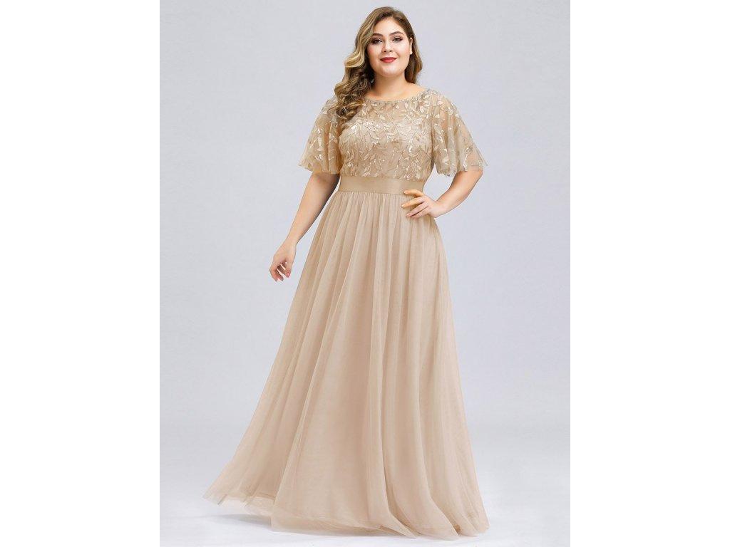 Dlouhé plesové šaty zlaté