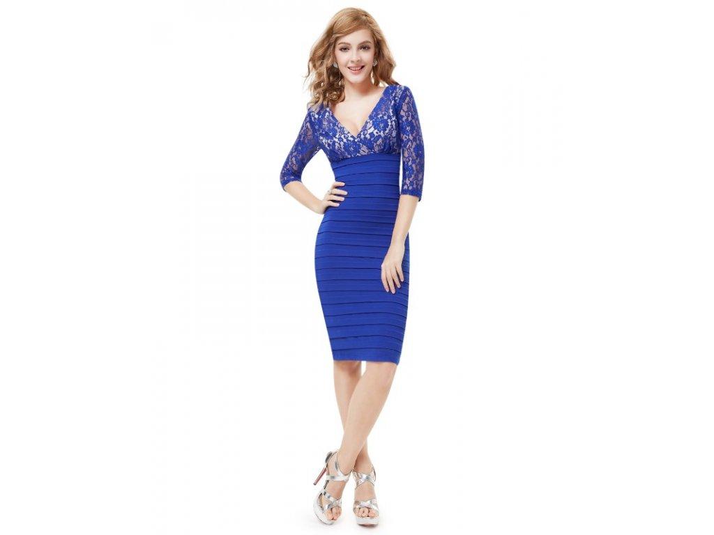 Ever Pretty šifonové šaty krátké modré 3783