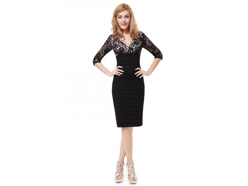 Ever Pretty pouzdrové šaty krátké černé 3783