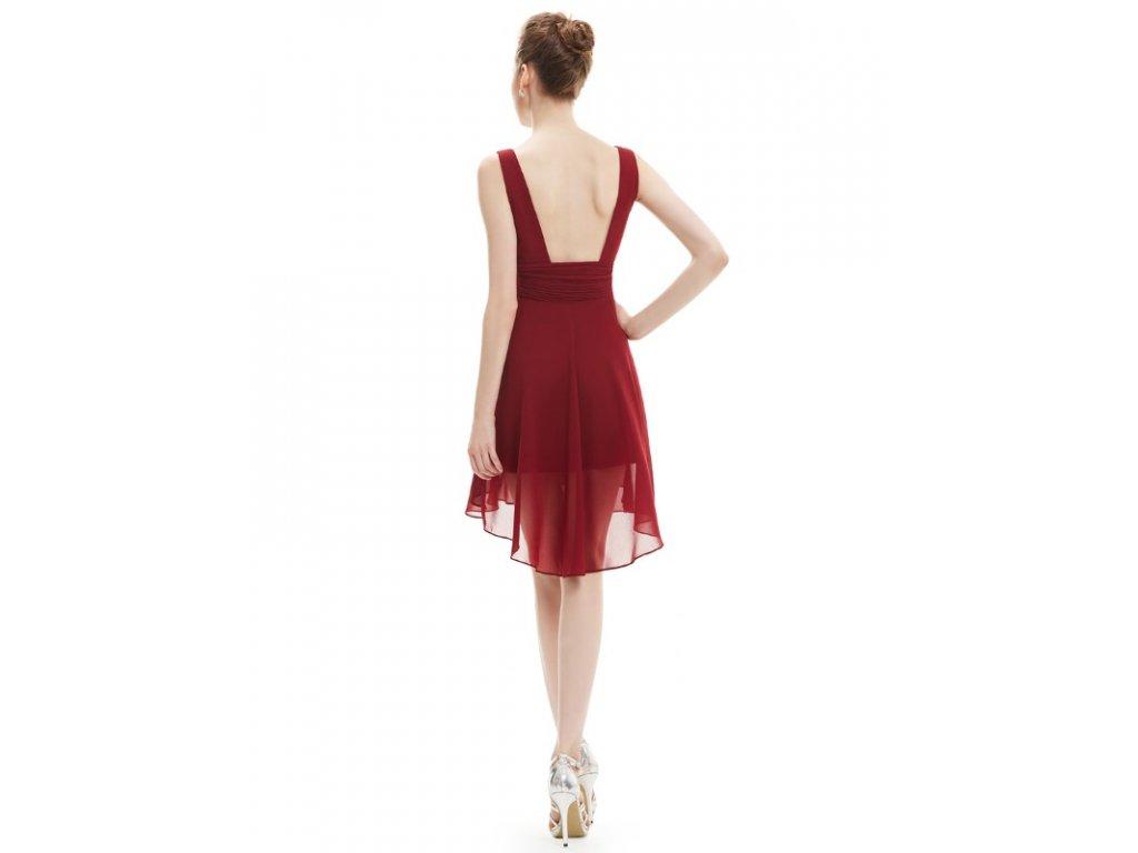 48c916bec Ever Pretty šifonové šaty krátké bordo 3644 - trendy-obleceni.cz