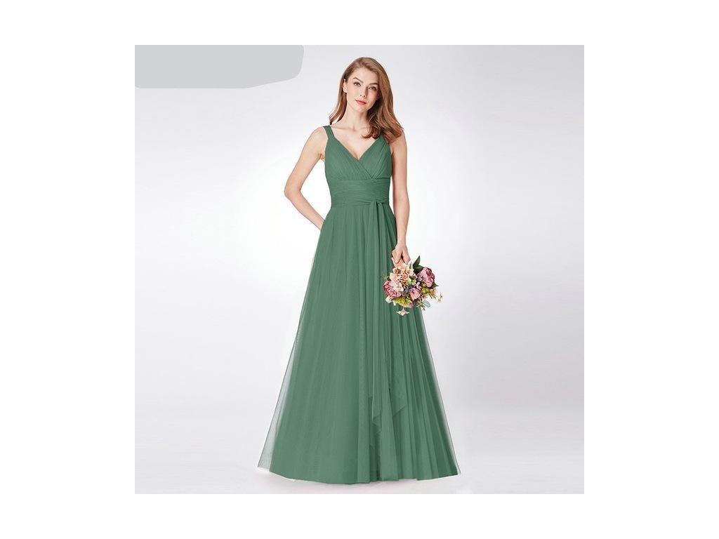 Tylové zelené šaty