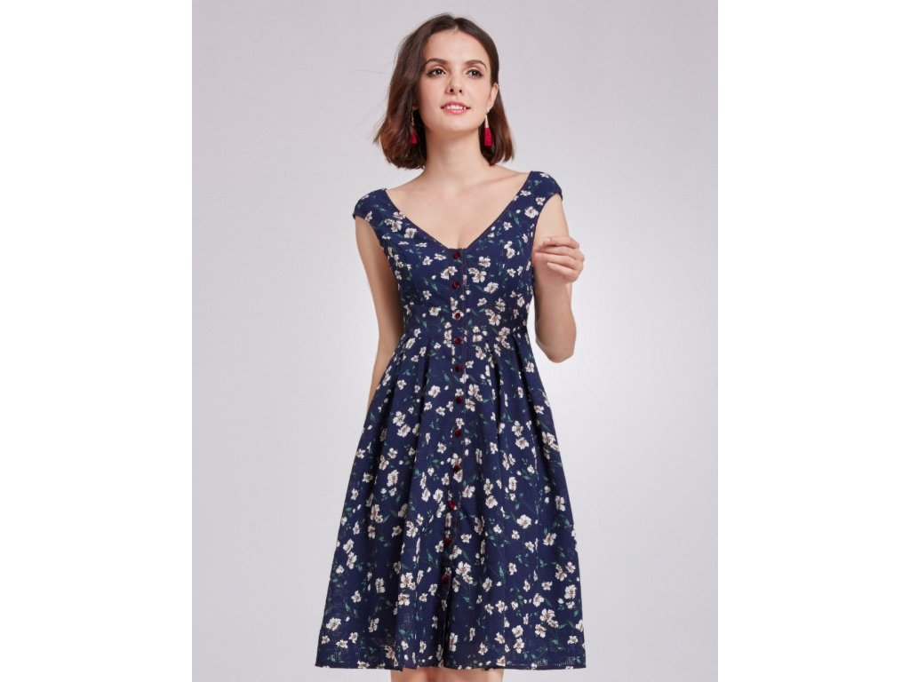 Letní krátké šaty květinové