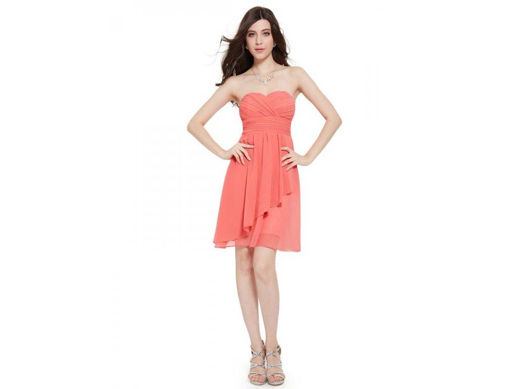 Ever Pretty letní šaty krátké korálové 3540