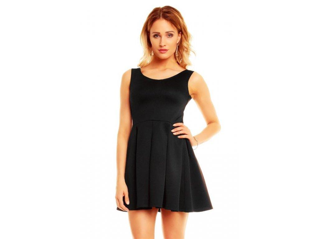 A Mayaadi, jednoduché černé šaty krátké 5104