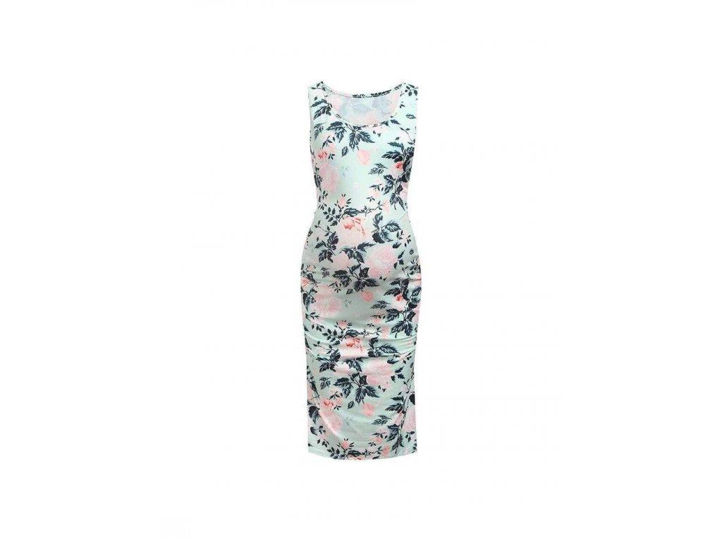 těhotenské šaty květované
