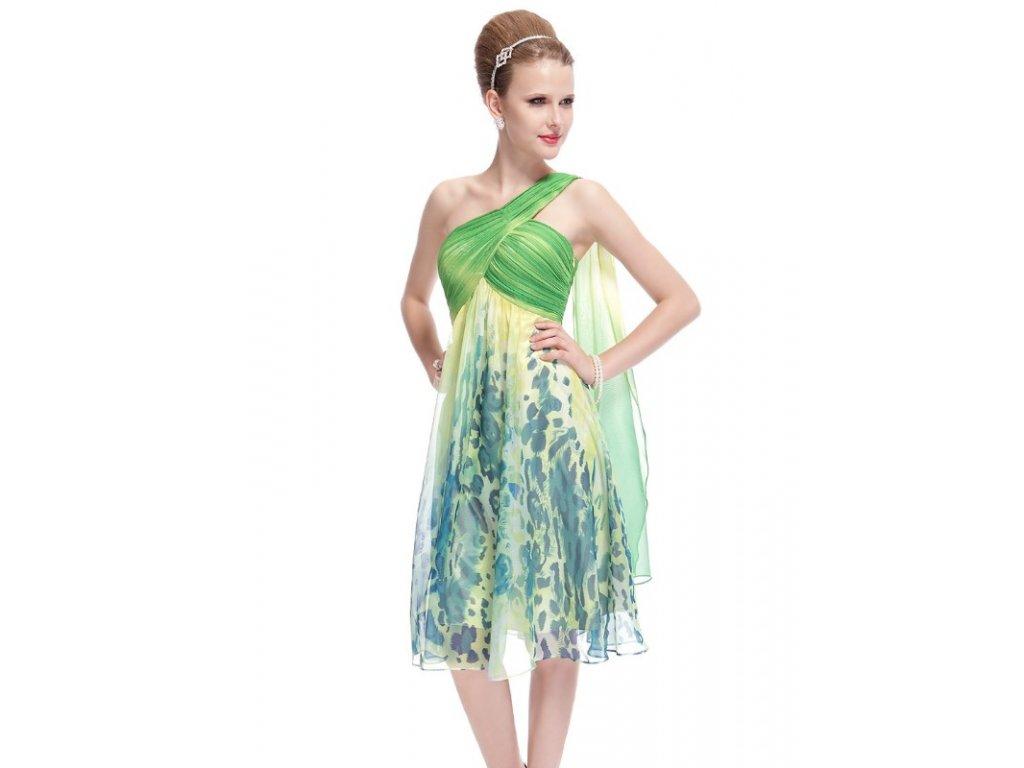 Ever Pretty šaty společenské nevšední zelené 5048