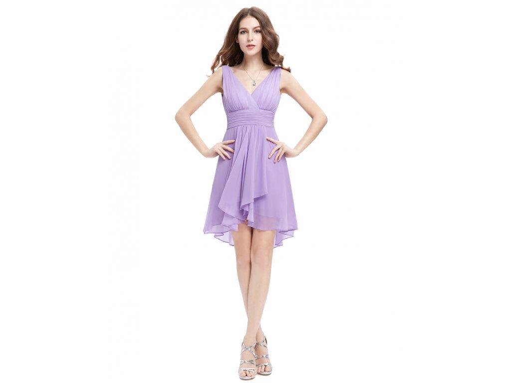 Ever Pretty šifonové šaty krátké fialové 3644