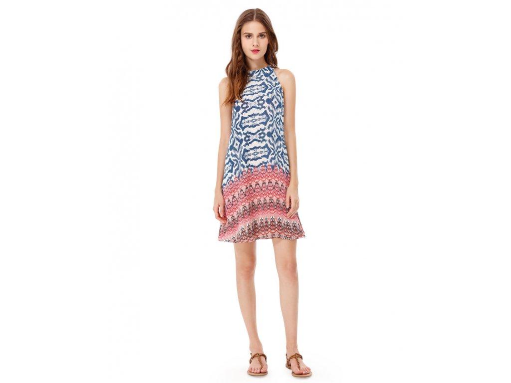 Ever Pretty letní šaty krátké modré 5589