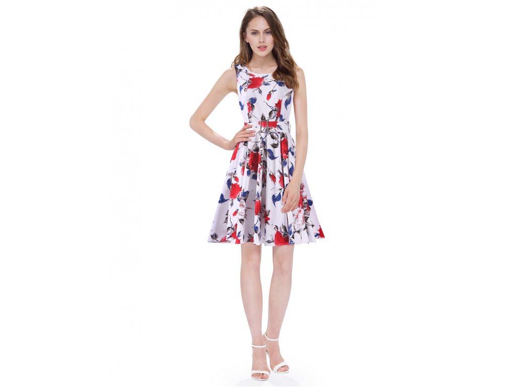 Ever Pretty šaty černé s květy krátké 5521