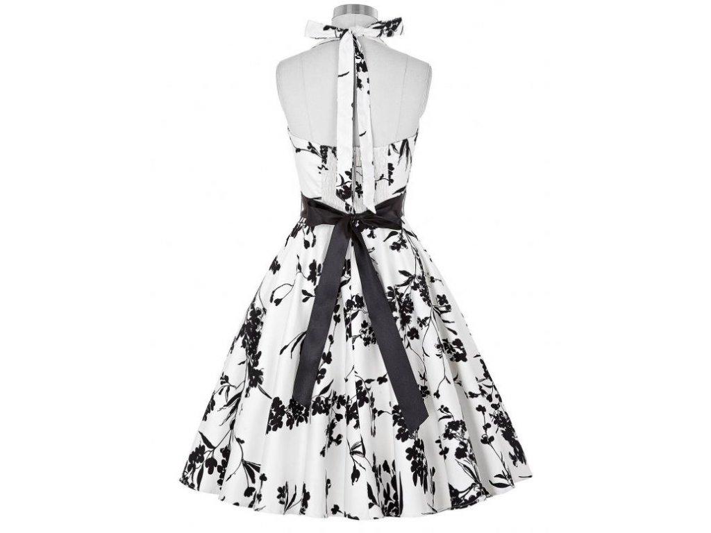 26261953cb1 A Letní šaty s květy bílé retro styl květy 2 - trendy-obleceni.cz