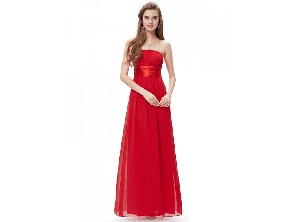 Ever Pretty plesové šaty s mašlí červené 9060