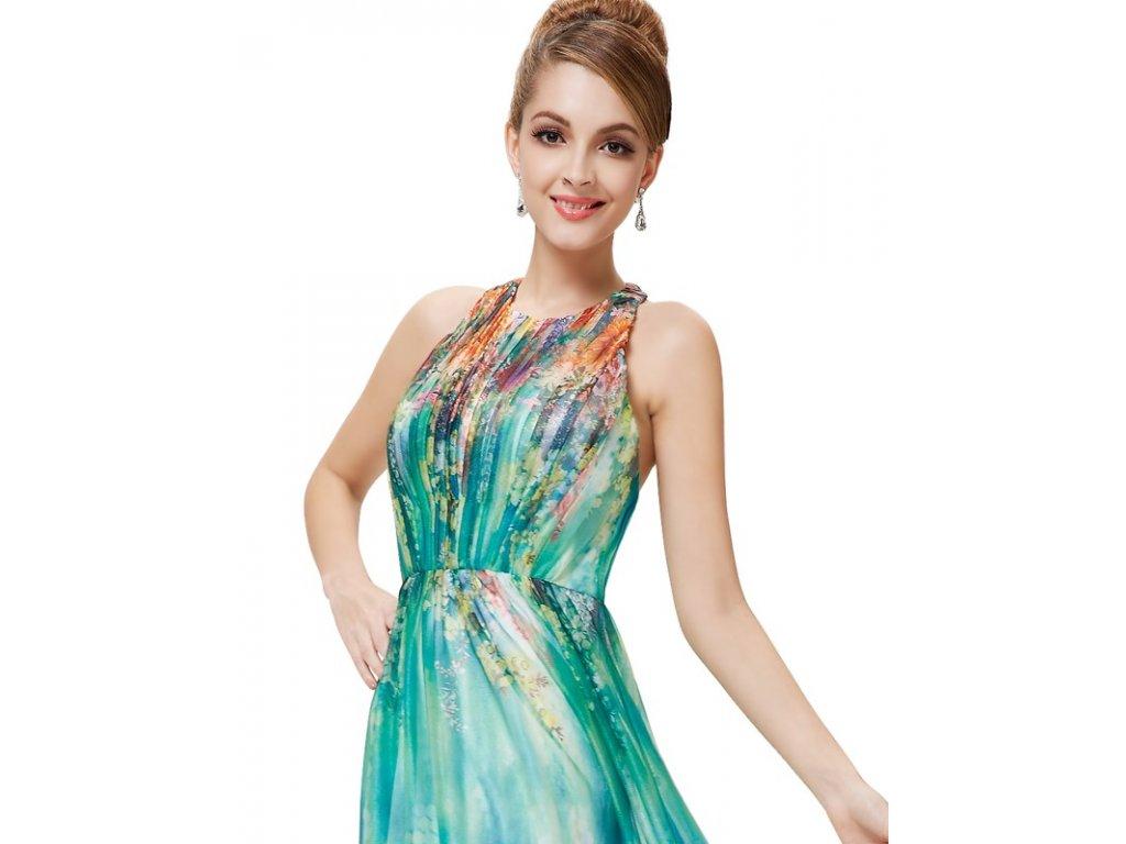 Ever Pretty letní květinové šaty tyrkysové 8258 - trendy-obleceni.cz 6c4d2e624a