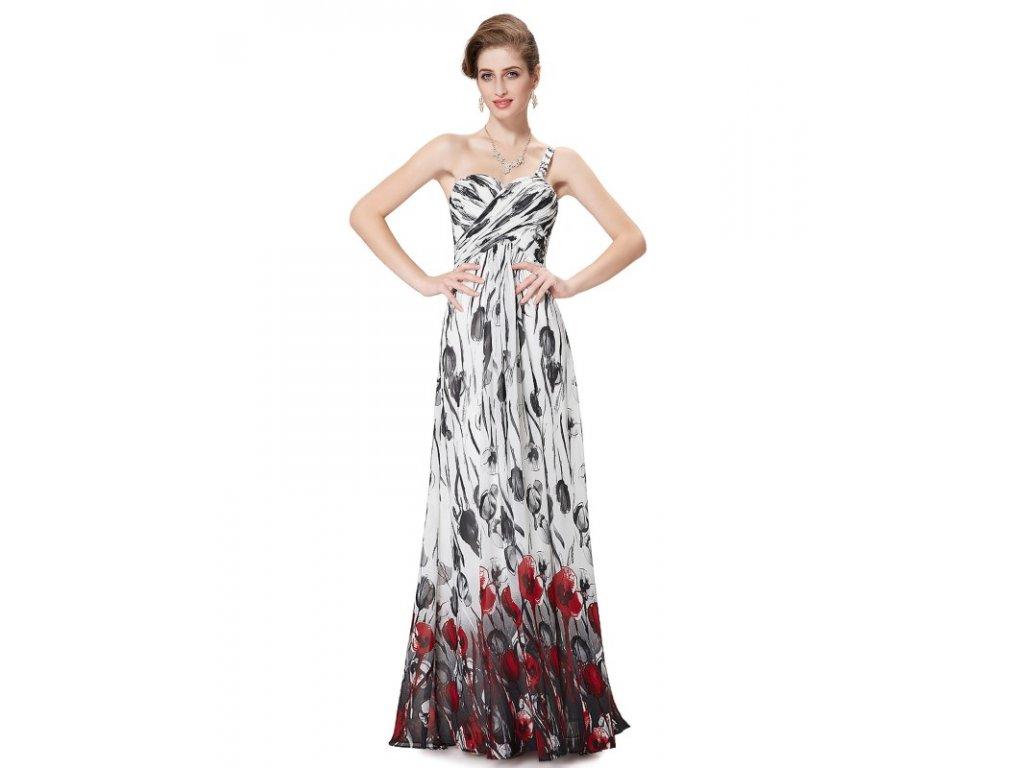 Letní šifonové šaty Ever Pretty bílé s květy 8394
