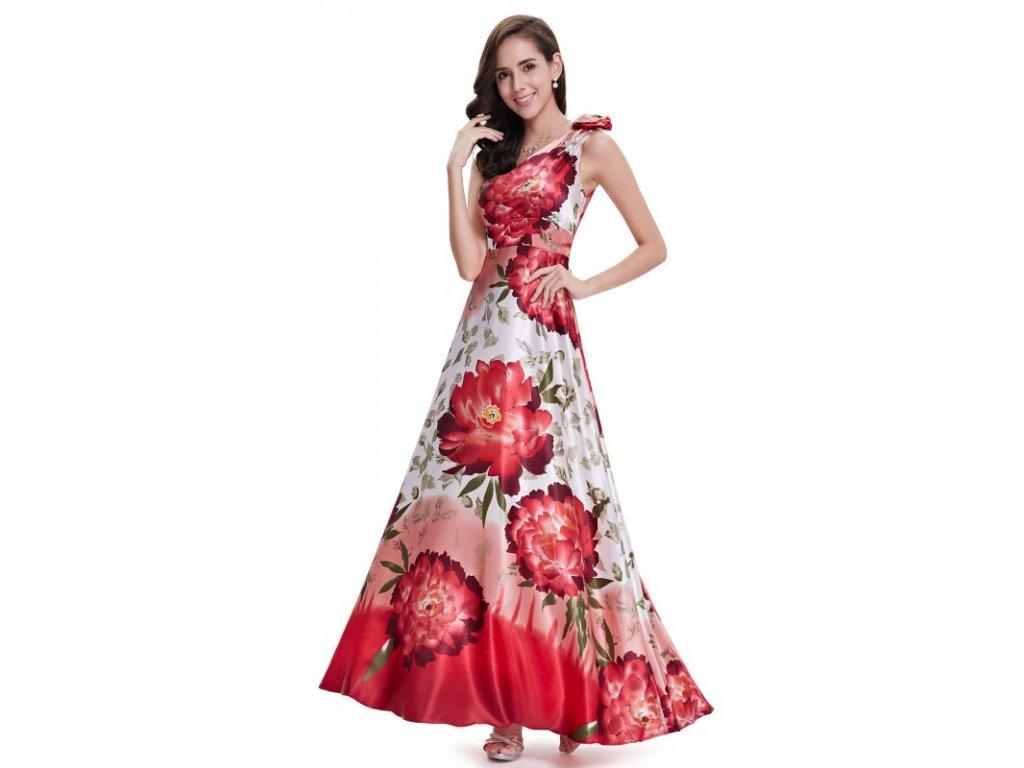 Ever Pretty nejen letní saténové šaty  s květy 9623