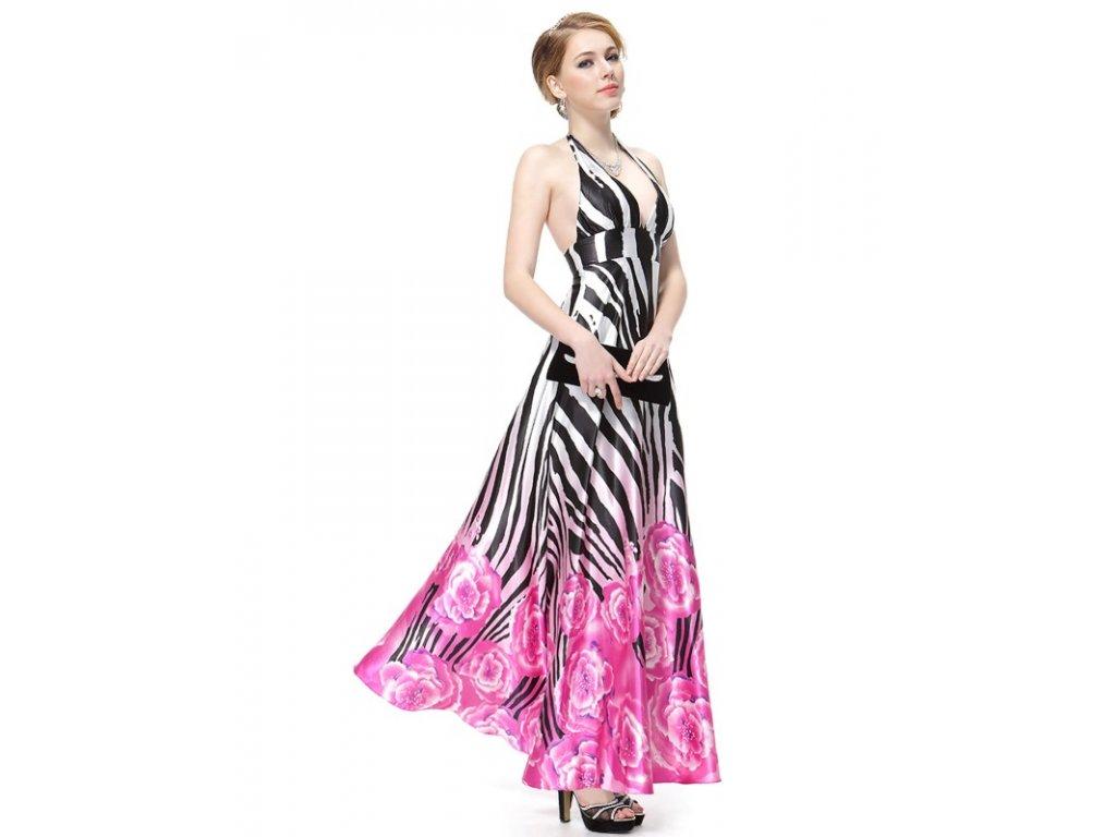 Ever Pretty letní dlouhé zebrované šaty s květinami šaty 8093