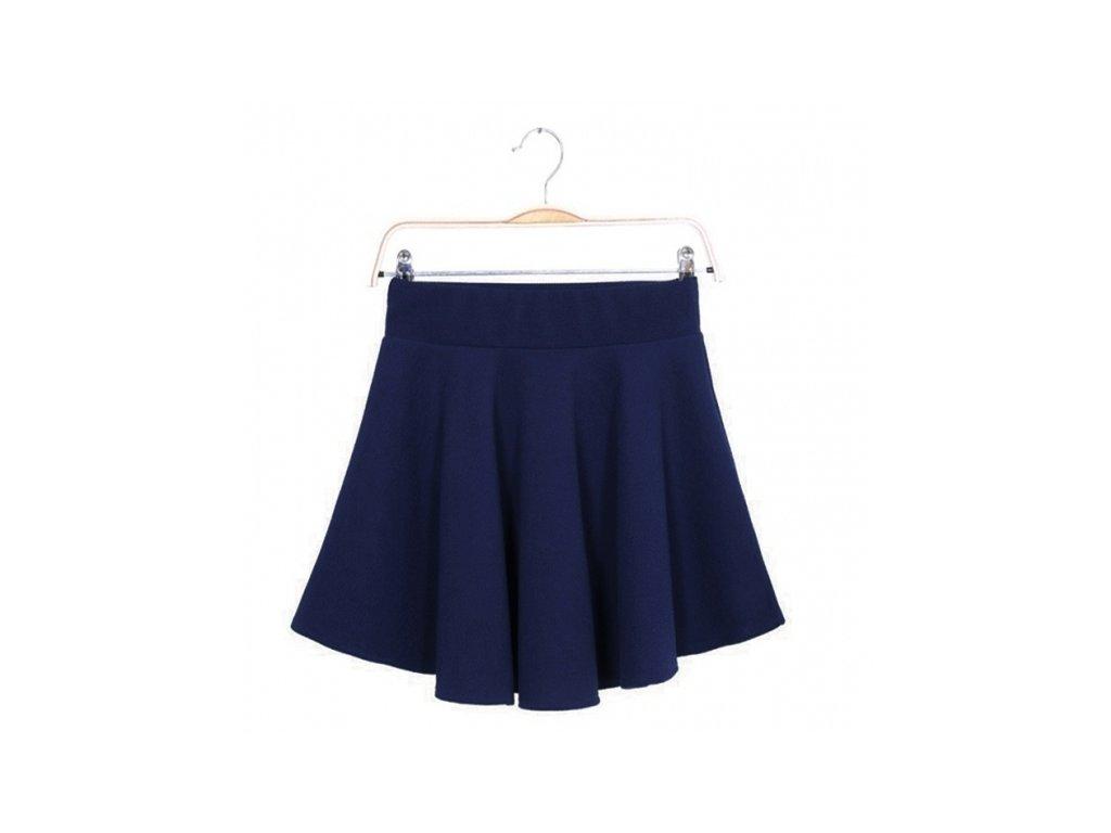 A Sukně letní mini jednobarevná modrá