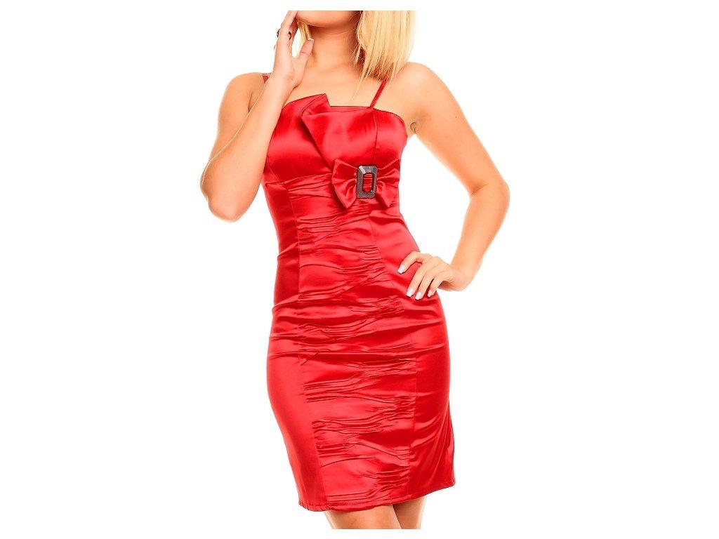 Luxusní šaty krátké koktejlky červené HS330