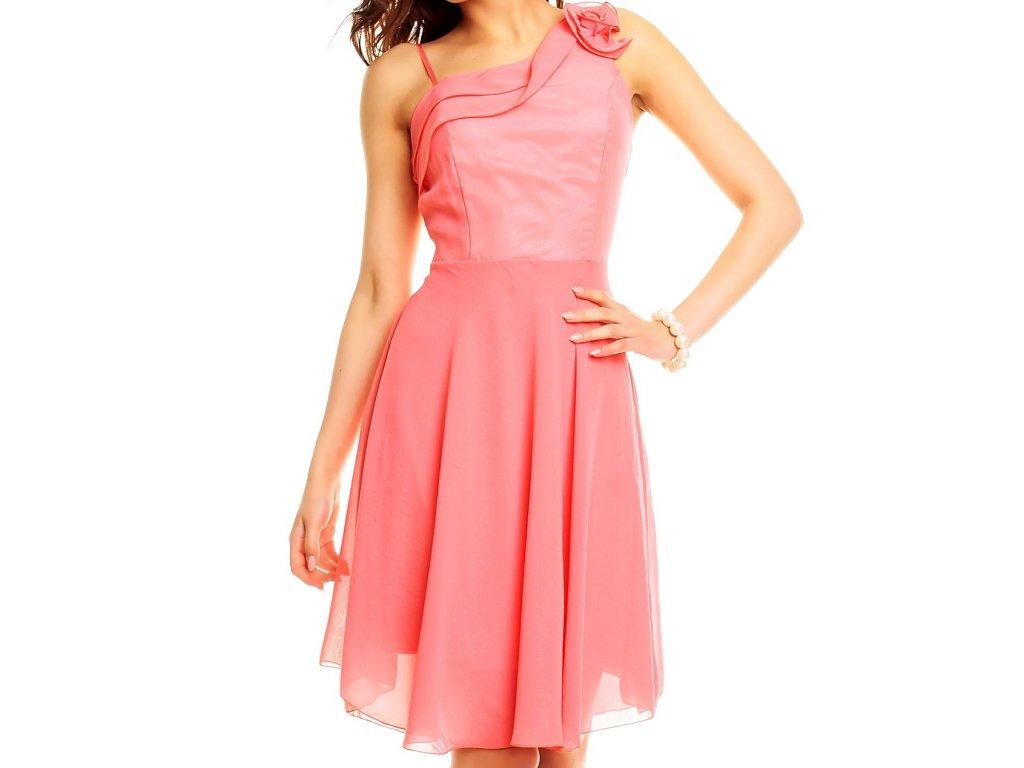 Elegantní losové růžové šaty na tancování HS334