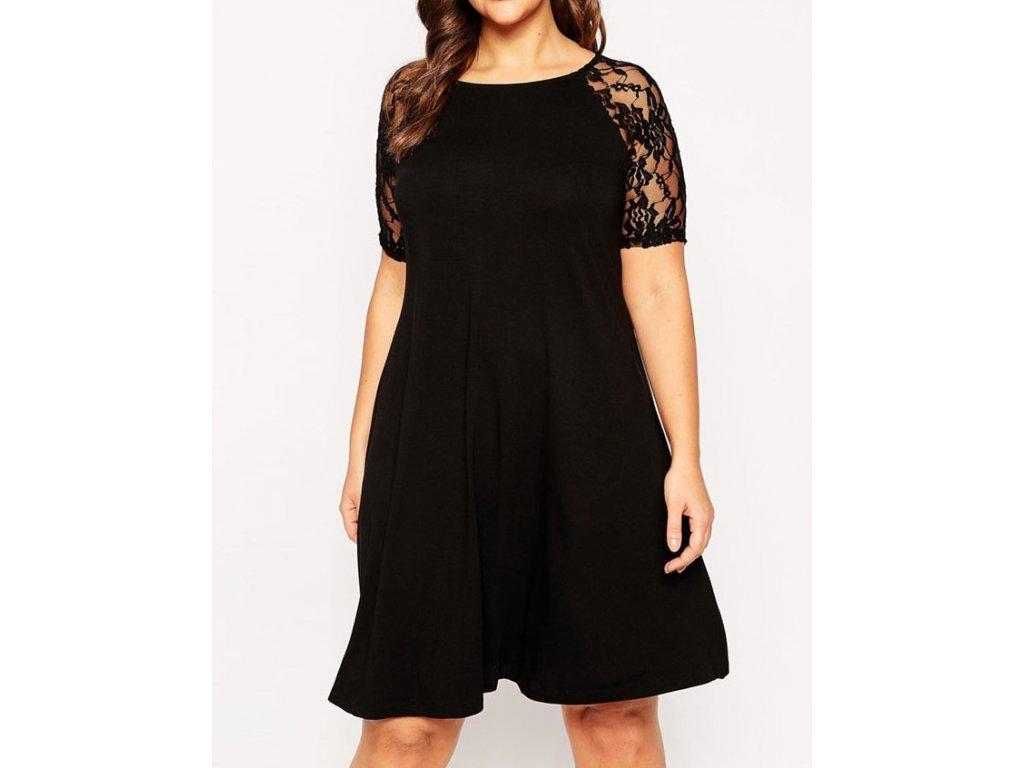A Elegantní černé šaty s krajkou