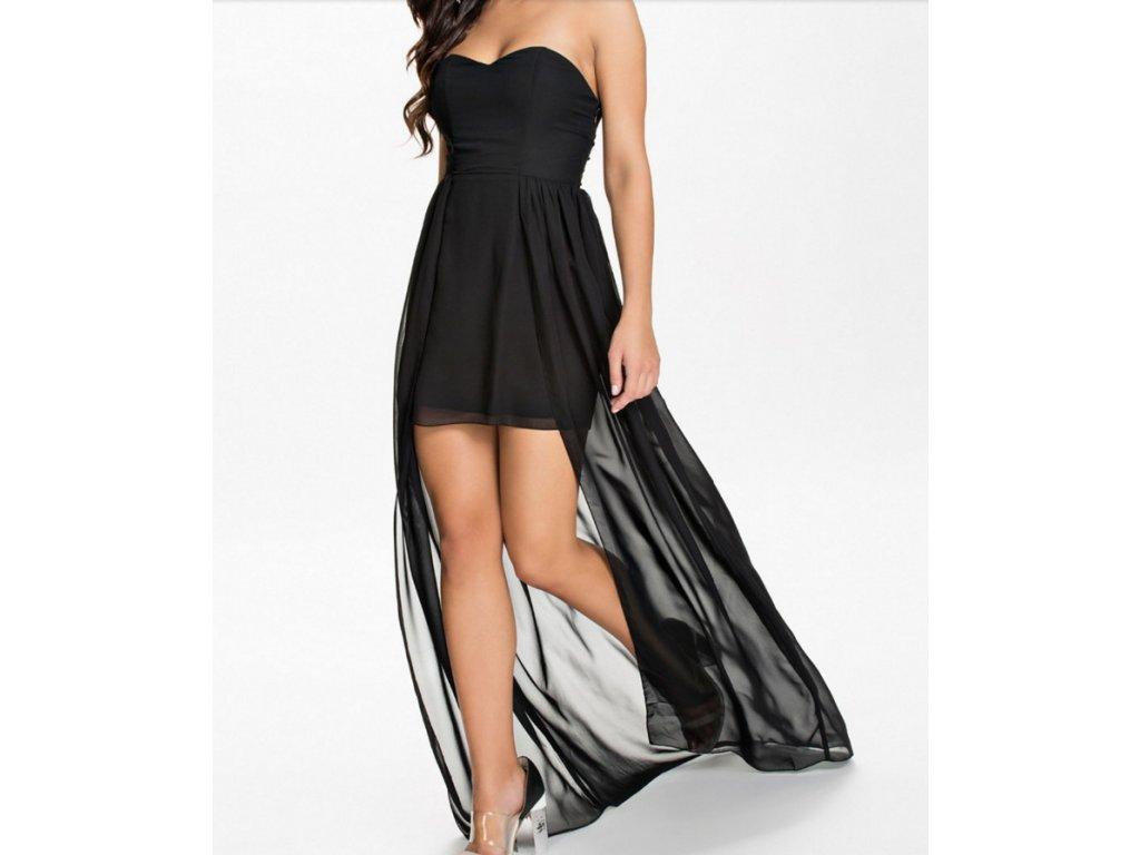 A Plesové šaty černé s vlečkou OH072