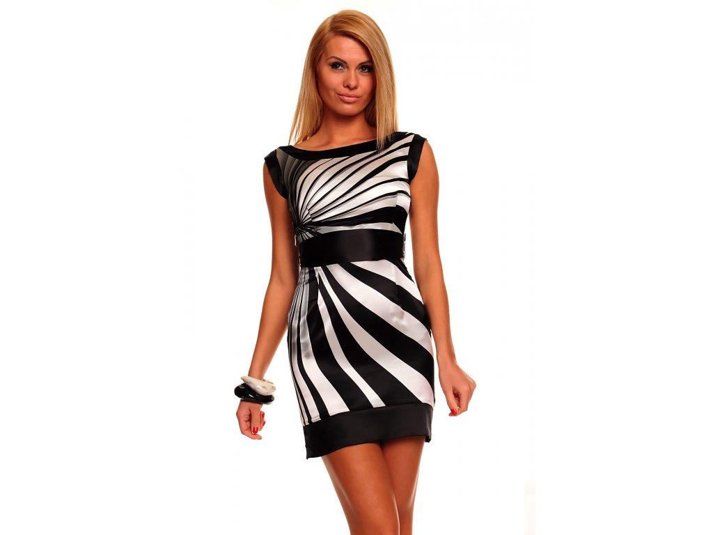 8f1d18b2bb2 A Luxusní dámské šaty nevšední zebrování Mayaadi HS248 - trendy ...