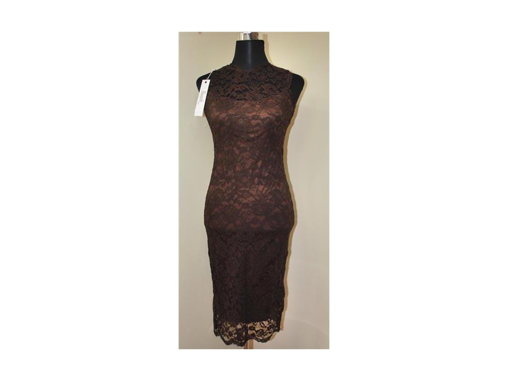 A Dámské elegantní krajkové šaty Mayaadi Deluxe hnědé - trendy ... 10d06c7221d