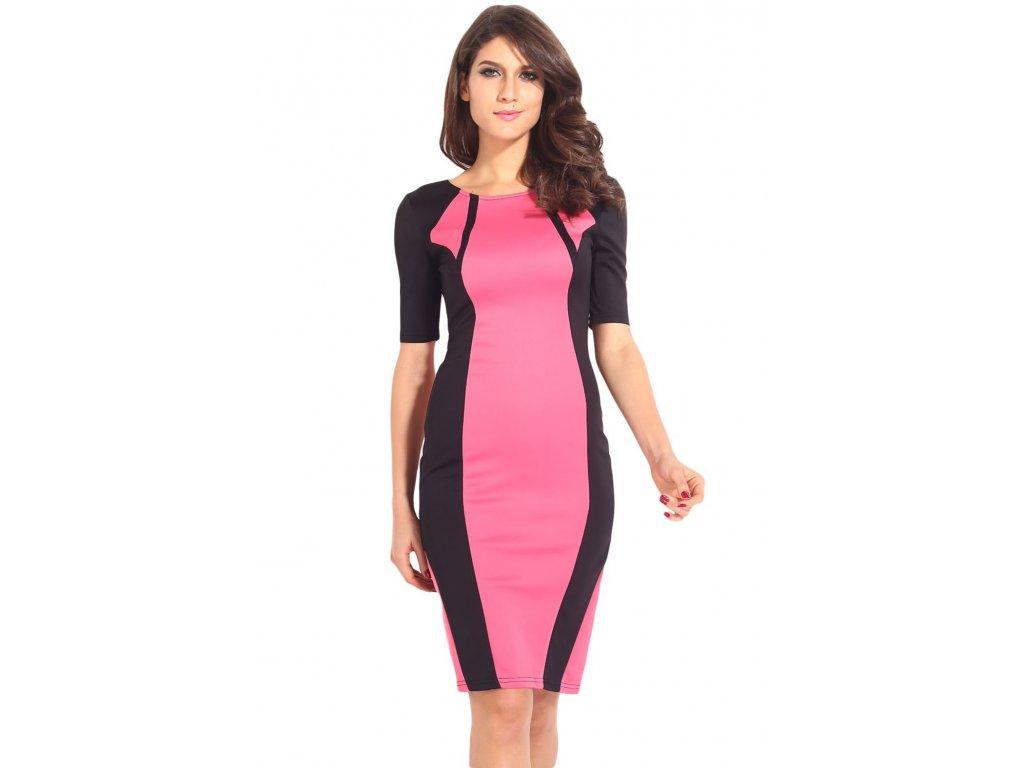 A Pouzdrové šaty růžové bodycon OH268