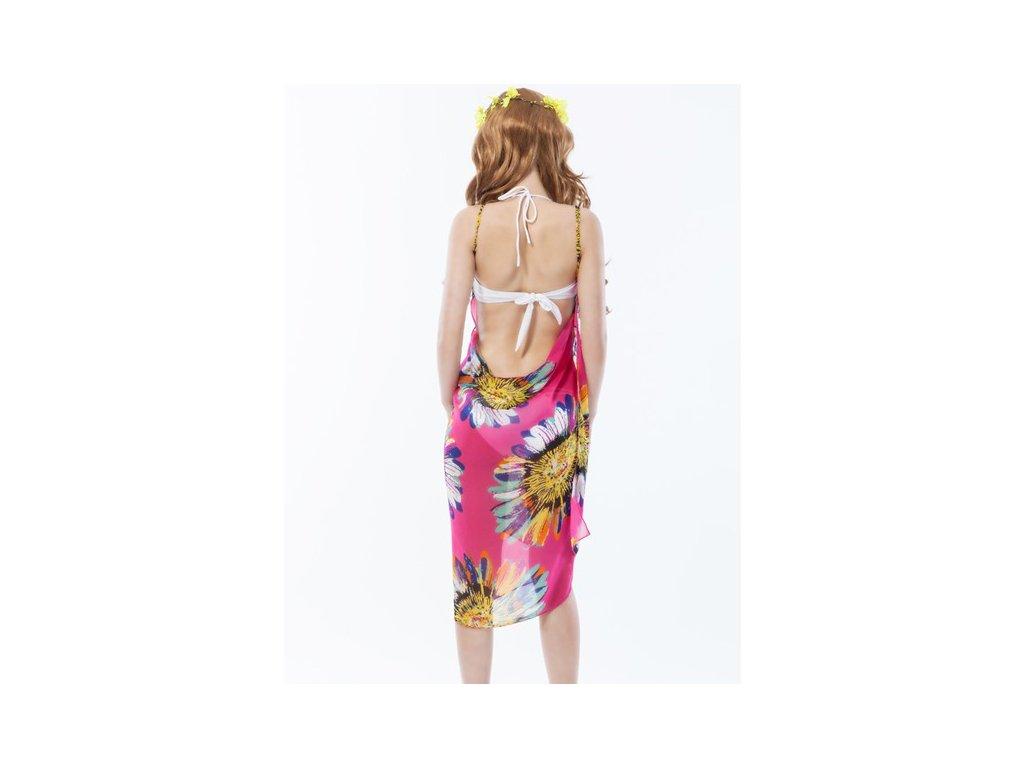 A Plážové zavinovací šaty s květy růžové - trendy-obleceni.cz c584851c85