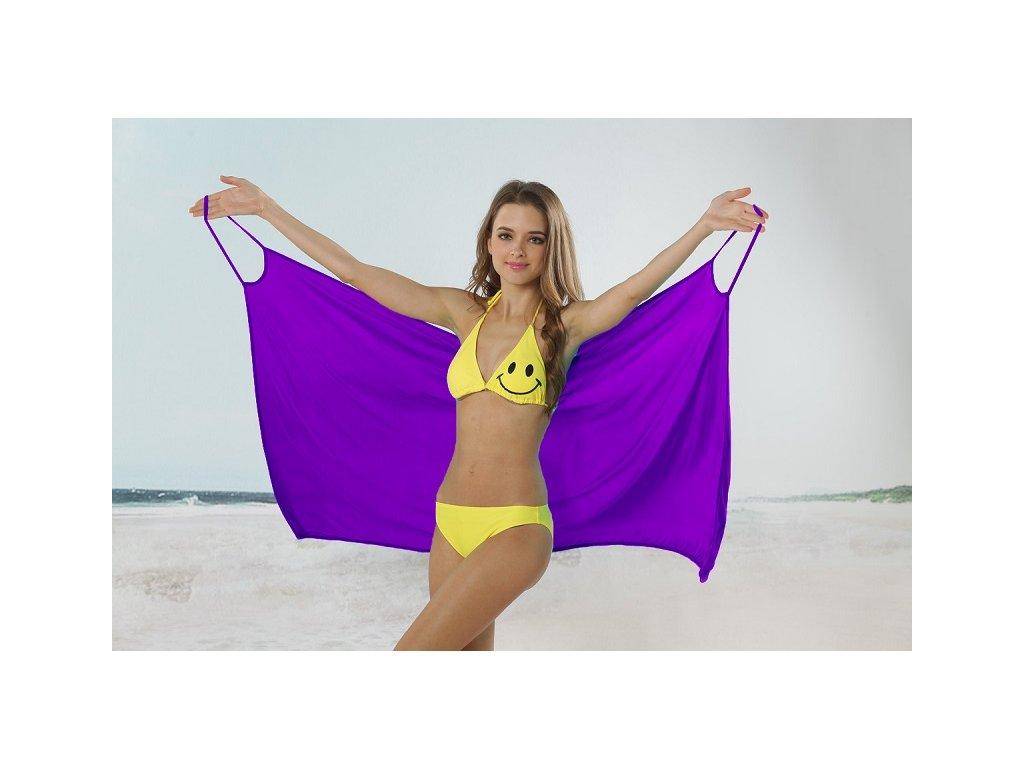 Plážové zavinovací šaty jednobarevné fialové · Plážové zavinovací šaty  jednobarevné fialové ... aed0a6bfc1