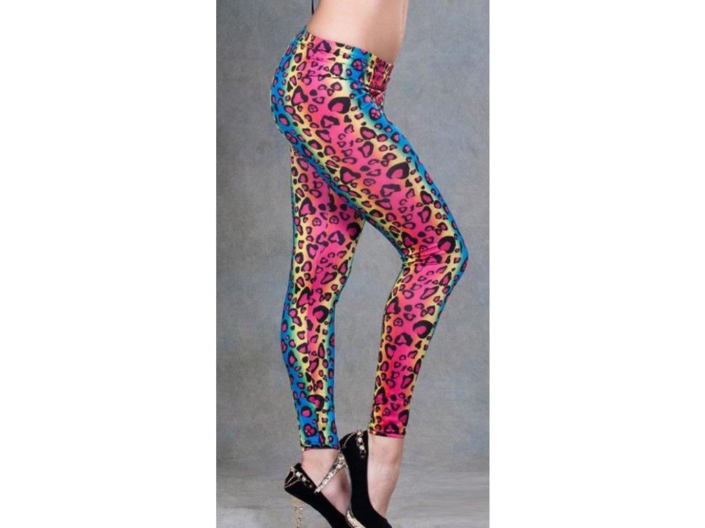 Dámské legíny, leggins leopard multicolor 20-99