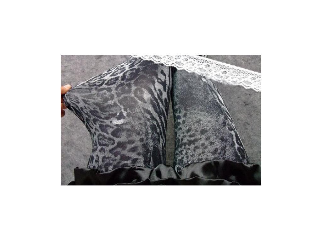 0827f465f49 Legíny vzorované leopard šedý - trendy-obleceni.cz
