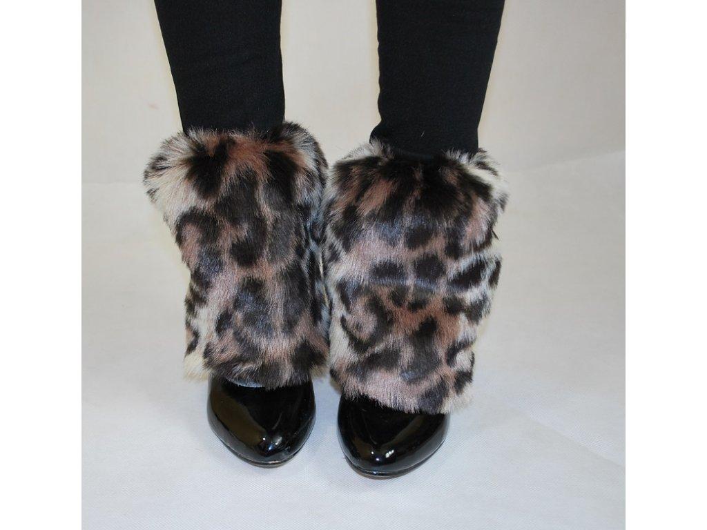 24fd12ece6b Chlupaté návleky na boty leopard · Chlupaté návleky na boty leopard ...