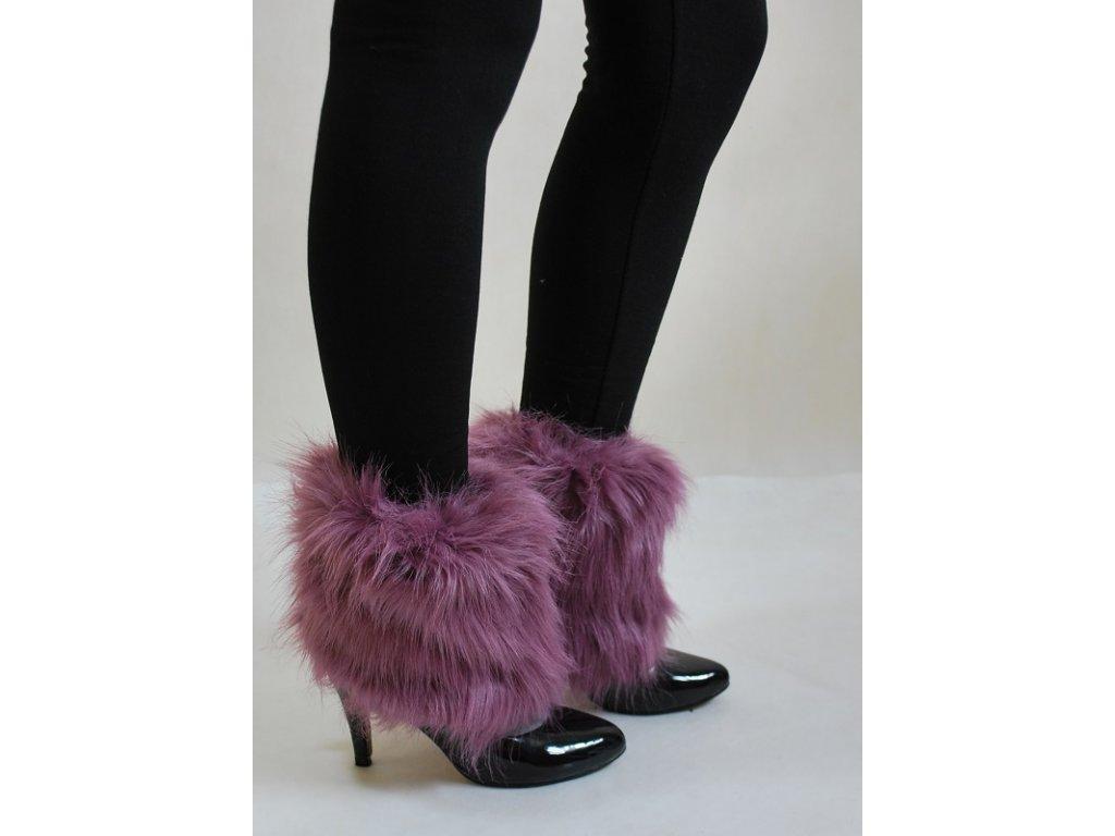 b667cc45807 Chlupaté návleky na boty růžové - trendy-obleceni.cz