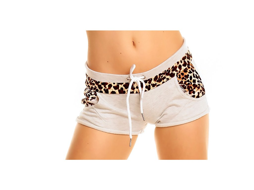 A Sexy dámské, dívčí šortky, kraťasy s leopardem