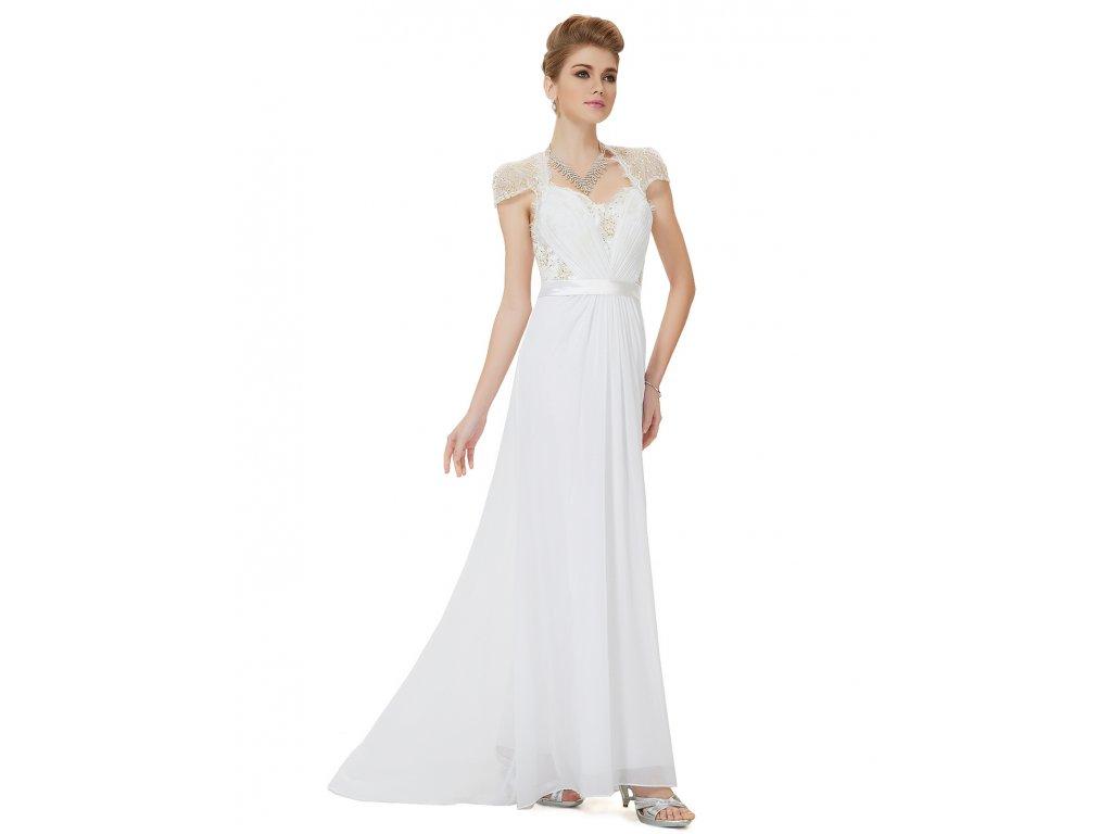 Svatební šaty dlouhé se zlatým Ever Pretty 9867