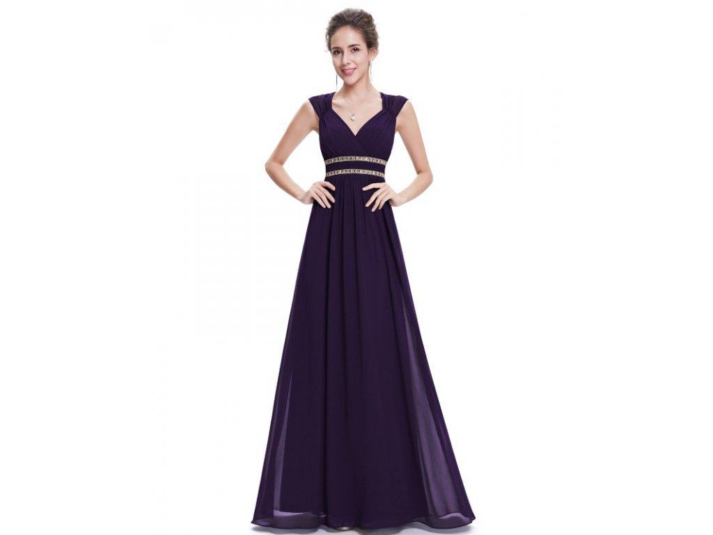 Ever Pretty šaty dlouhé elegantní fialové 8697 (Velikost 3XL / 48 / 16 / 20)
