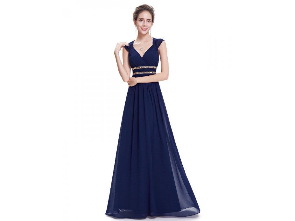 Ever Pretty šaty dlouhé elegantní tmavě modré 8697 (Velikost 3XL / 48 / 16 / 20)