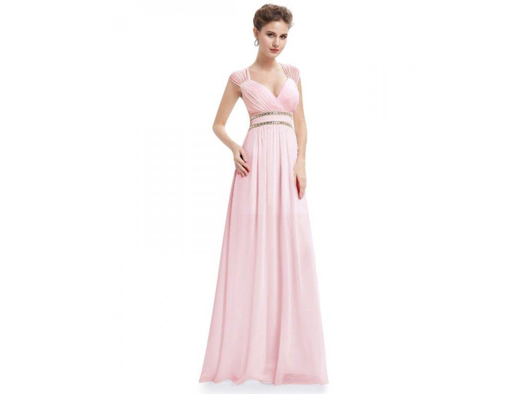 Ever Pretty šaty dlouhé elegantní světle růžové 8697 (Velikost 3XL / 48 / 16 / 20)