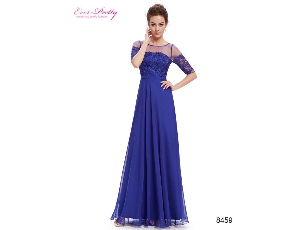Elegantní Ever Pretty plesové šaty modré 8459 (Velikost 3XL / 48 / 16 / 20)