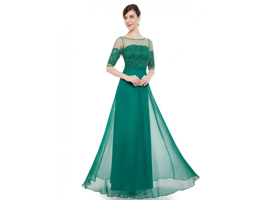 Elegantní Ever Pretty plesové šaty zelené 8459 (Velikost 3XL   48   16   20 2786a6a13e