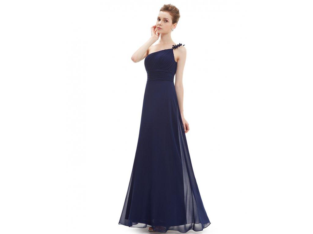 Ever Pretty dlouhé šaty na jedno ramínko 9596 (Velikost 3XL / 48 / 16 / 20)