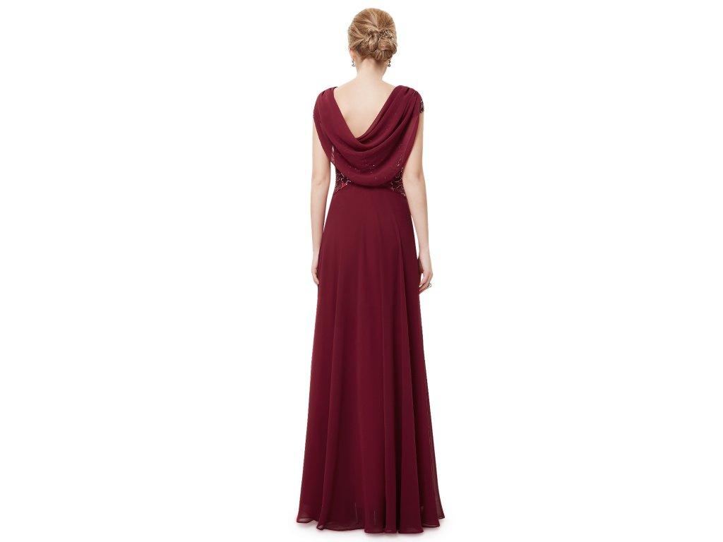 ... Dámské elegantní Ever Pretty plesové šaty bordo 9989 (Velikost 3XL   48    16 ... e000139a0b